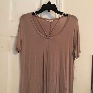 LA Hearts tan/nude t shirt dress size medium